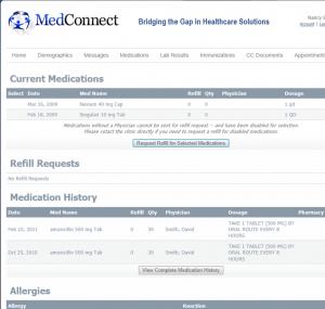 EHR Patient Portal